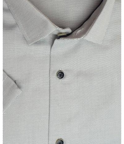 MLL A250 Koszula męska krótki  rękaw szary duże rozmiar