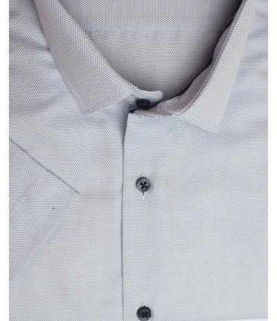 MLL A251 Koszula męska krótki niebieski rękaw duże rozmiar