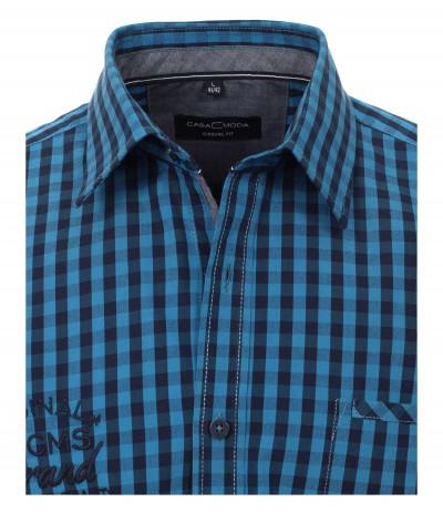 CASA 100/100  Koszula męska długi rękaw krata duże rozmiary
